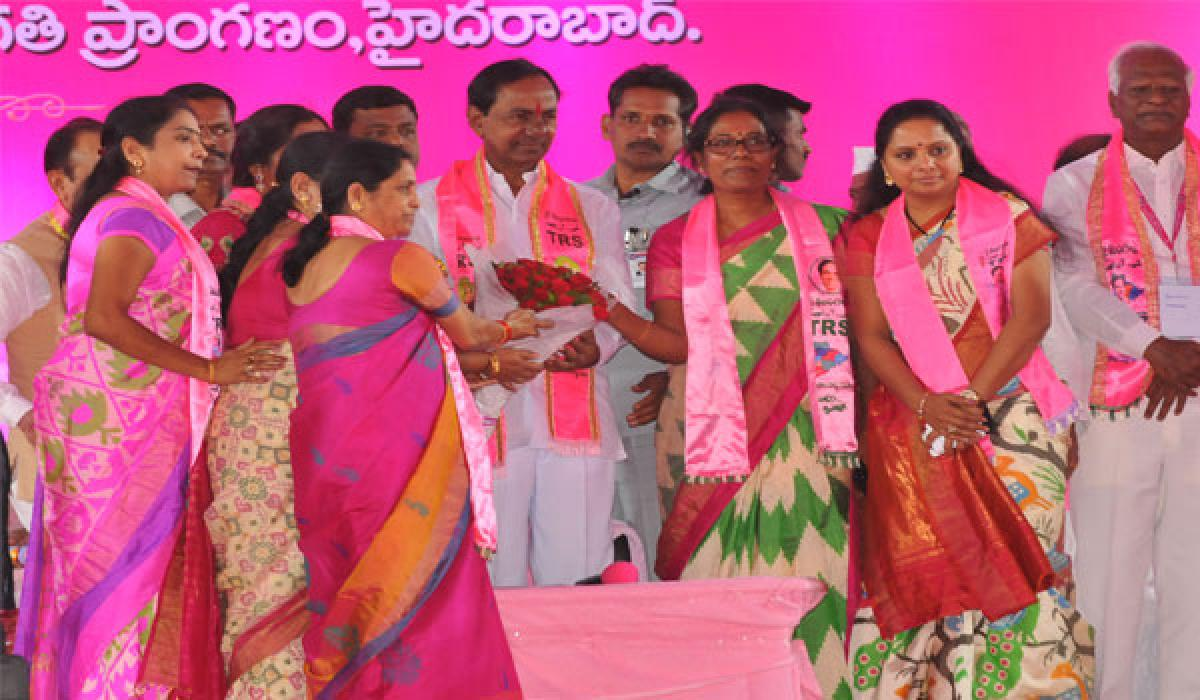 KCR at the party helm again