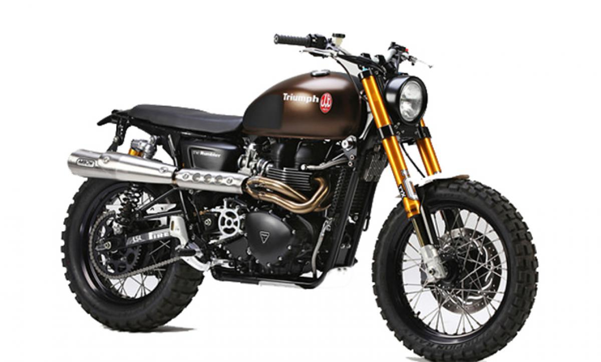 Triumph Motorcycles to auction Scrambler from Jurassic World