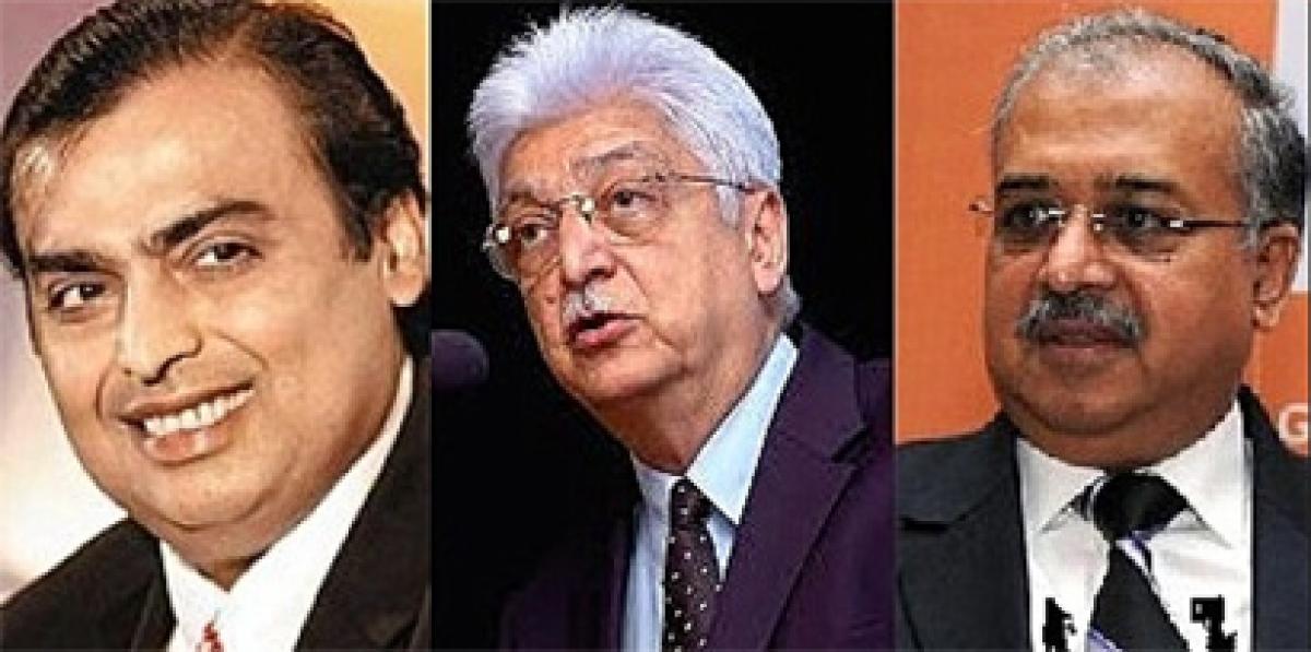Mukesh Ambani, Azim Premji, Dilip Shanghvi among worlds 50 wealthiest