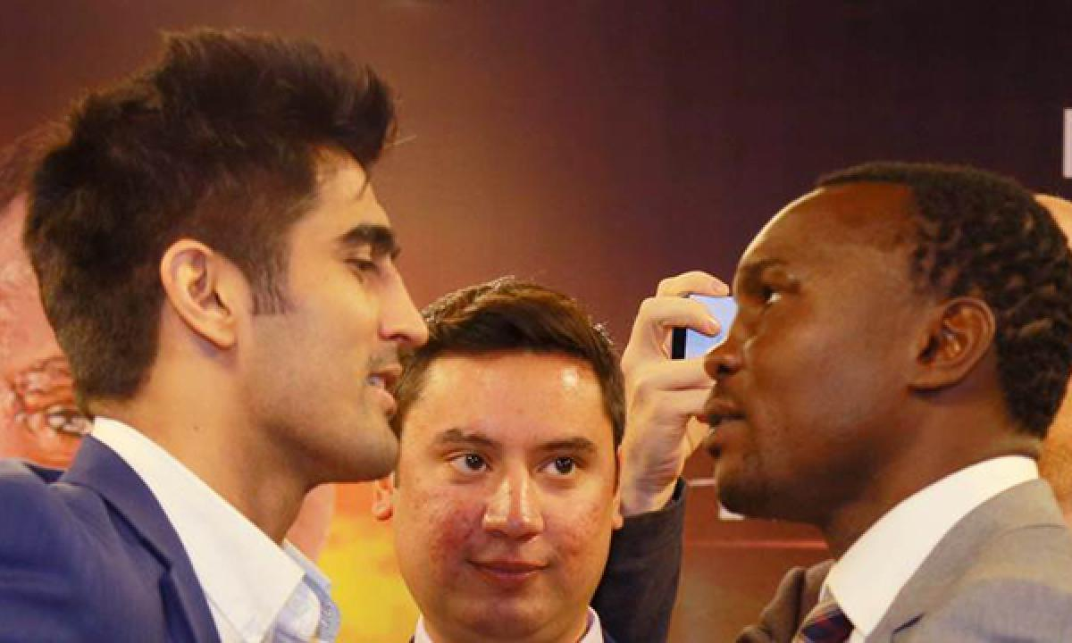 Vijender Singh takes on Francis Cheka to defend WBO Asia Pacific super middleweight title defence