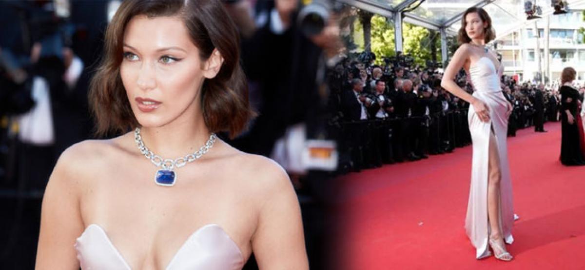 Bella Hadid suffers wardrobe malfunction at Cannes again