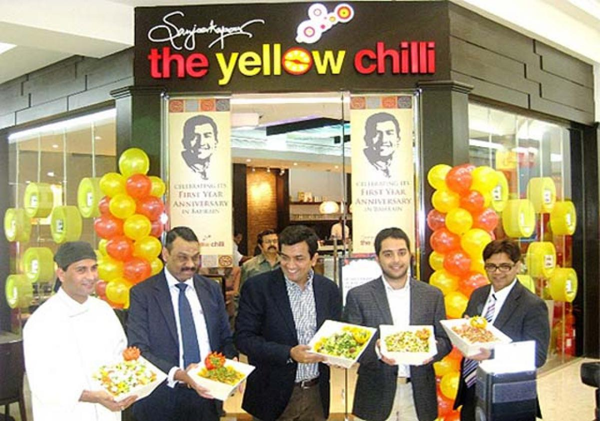 Now Relish Sanjeev Kapoors recipes at Yellow Chilli restaurant in Muscat