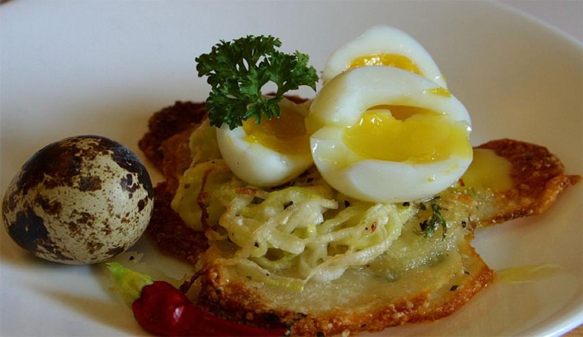 This restaurant is offering an ostrich egg meal