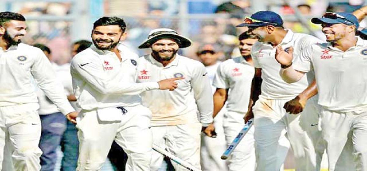 Team India clinch Test series