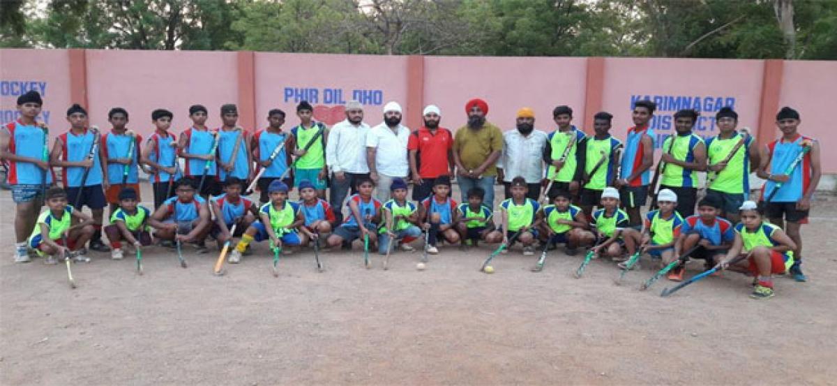 Karimnagar District Hockey Gets a Boost