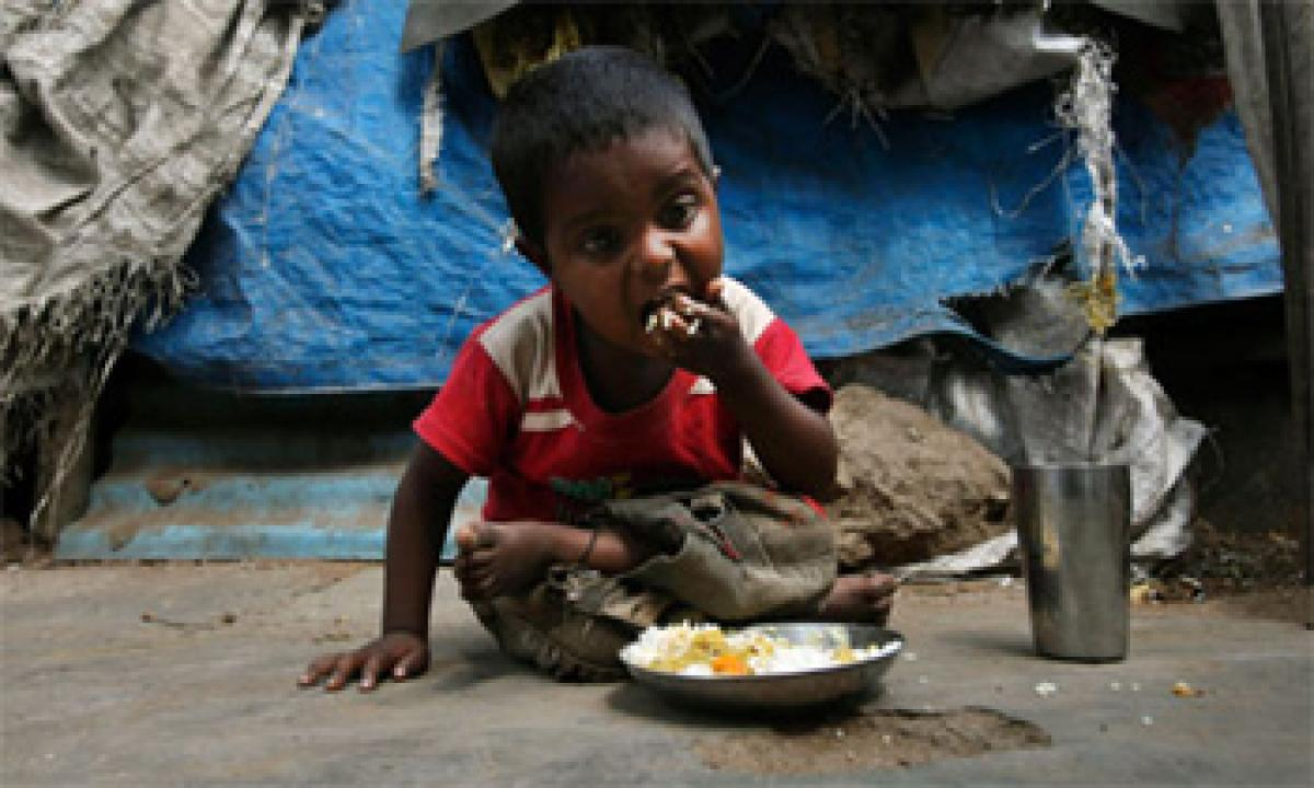 Malnutrition in India because of poverty
