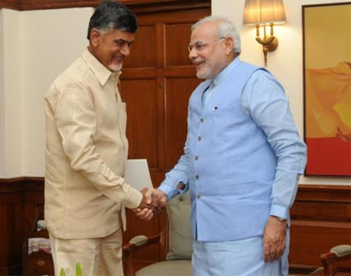 Chandrababu Naidu Meets PM Modi on Andhras special status demand