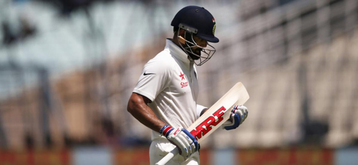 Indian Team struggles at 57/3 with New Zealand bowlers