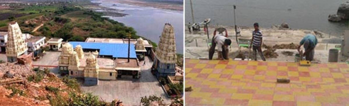 Muktyala Vedadri bathing ghats get facelift