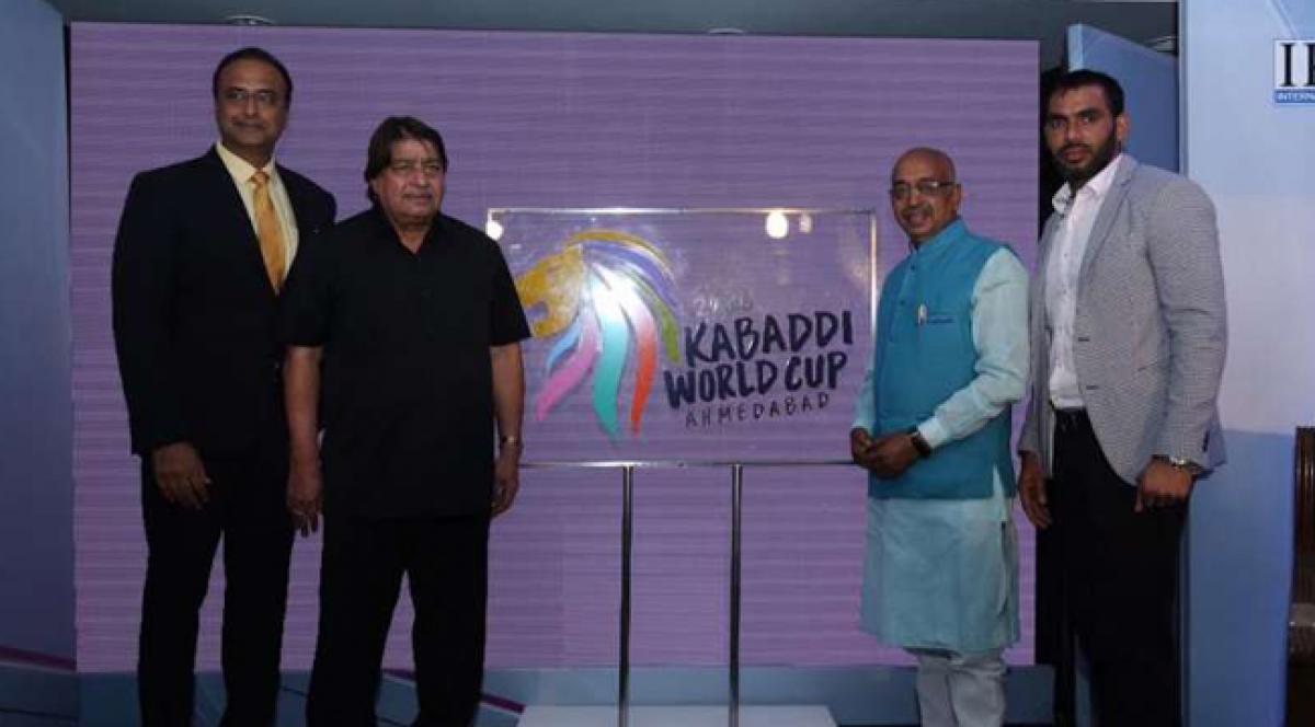 Kabaddi World Cup 2016 logo unveiled by Vijay Goel and Janardan Singh