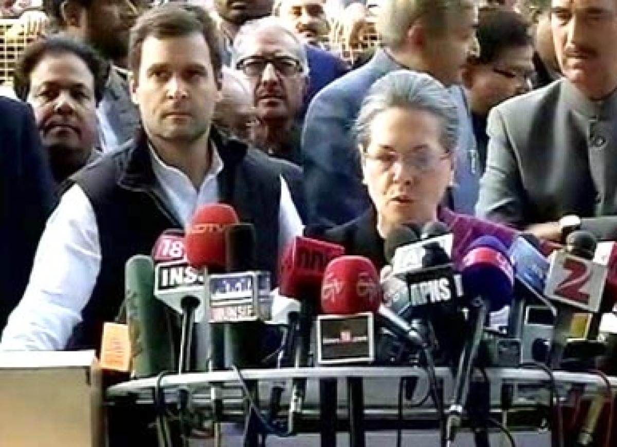 BJP making wrong use of central agencies to attack us: Sonia