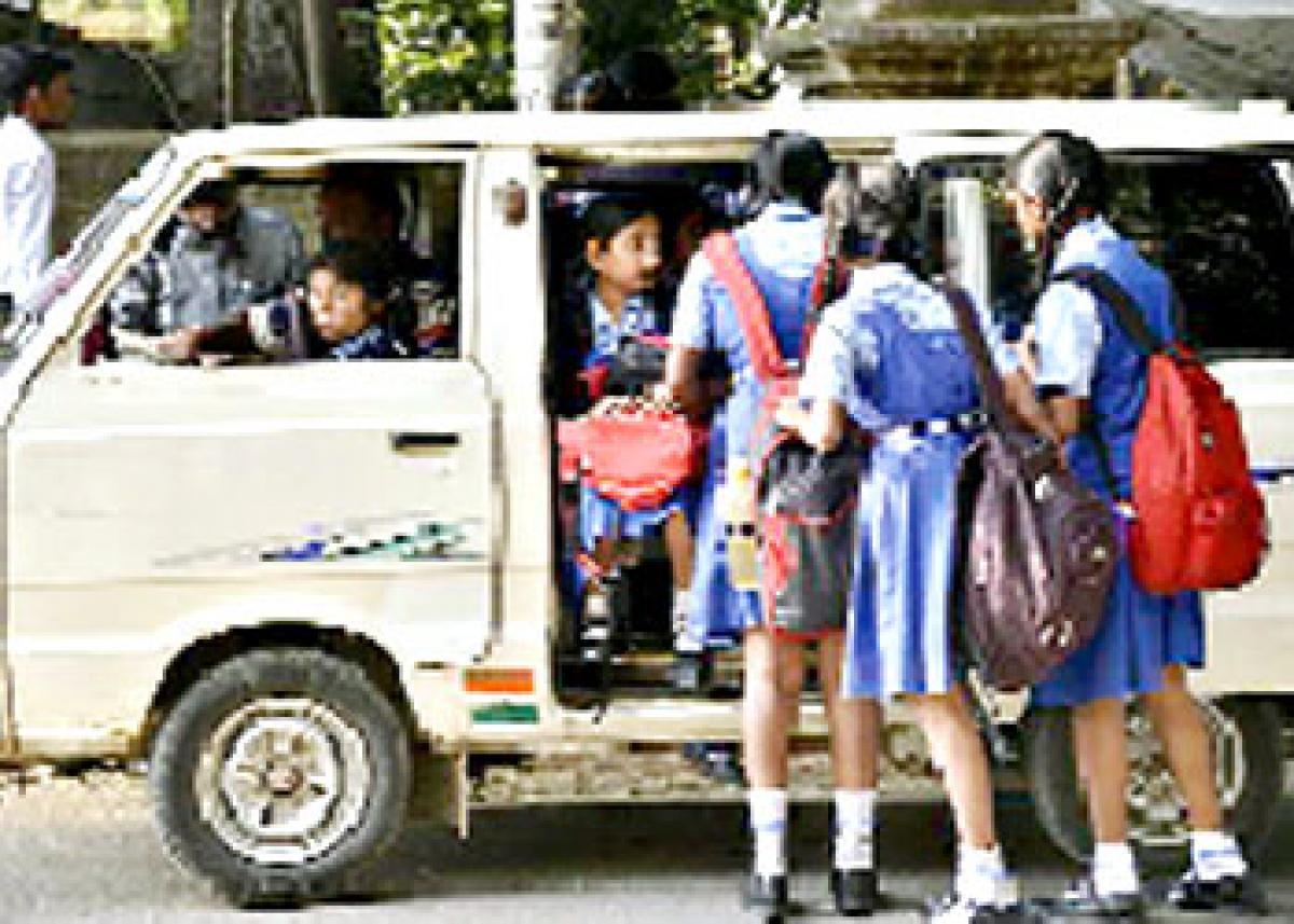Omni van ride proves dicey for kids