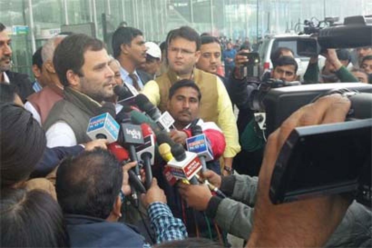 Rahul Gandhi returns from Europe trip