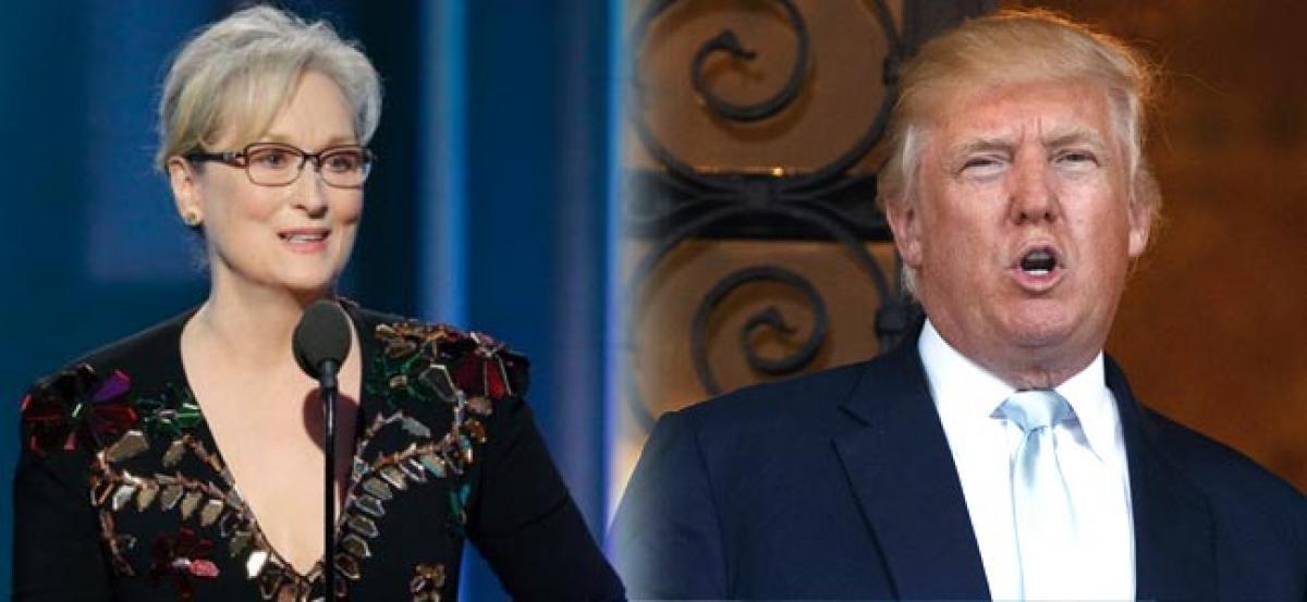 Meryl Streep a Hillary flunky who lost big, tweets Donald Trump