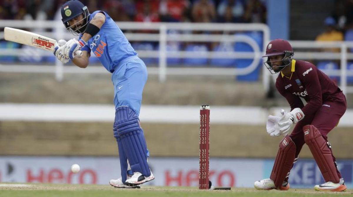 Rahane, Kohli shine as India beat West Indies by 105 Runs