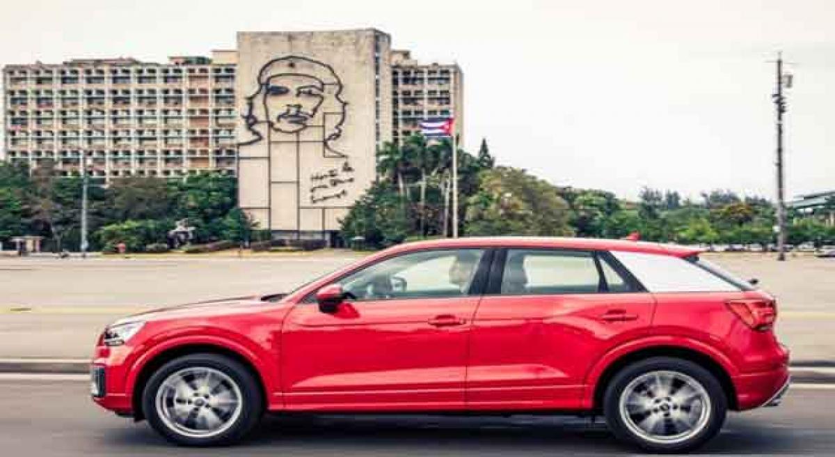 A peek into Audi Q2 mini SUV on Cuban roads