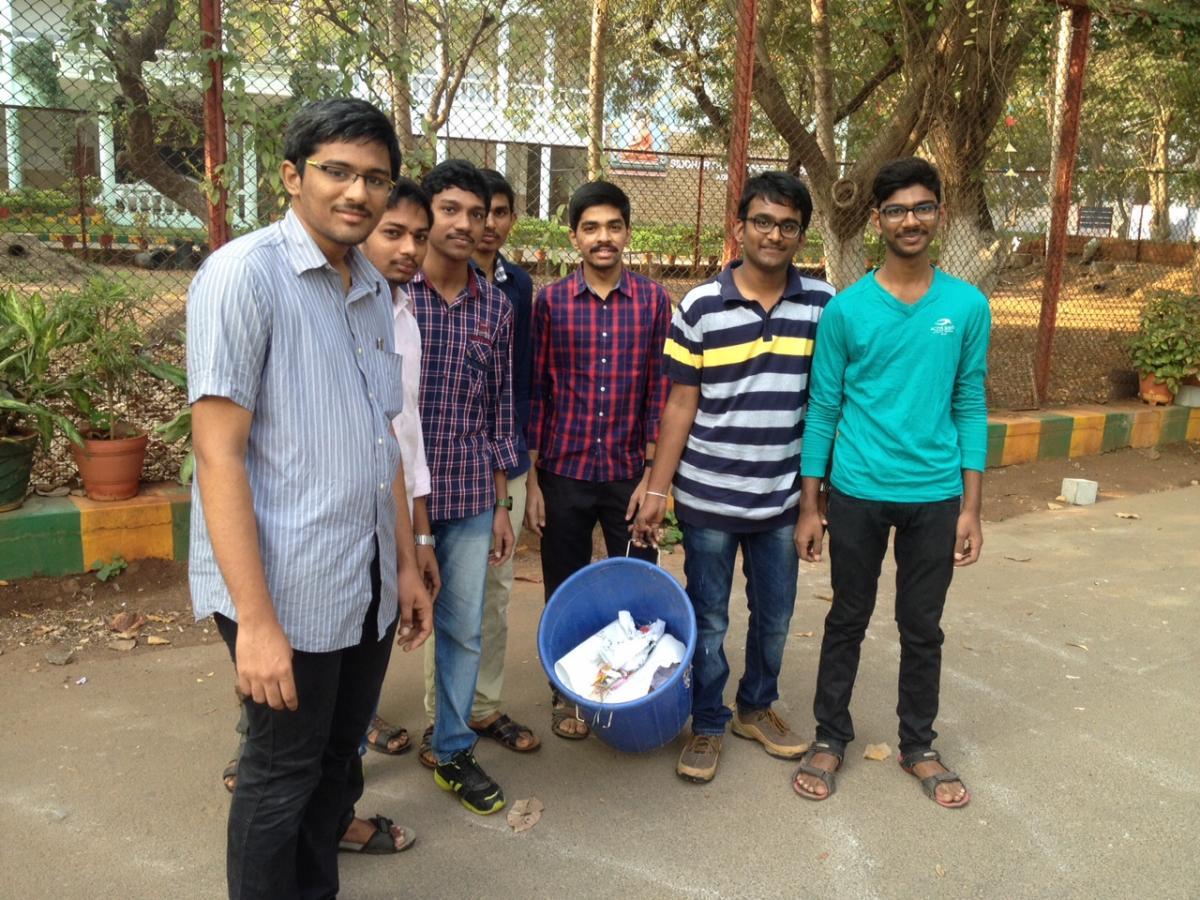 Photos: Siddhartha engineering college students on Swachch Bharat mission