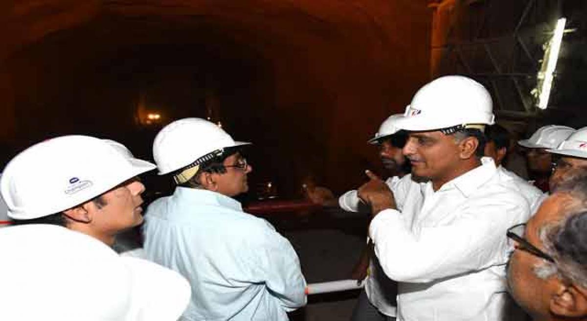 Harish Rao inspects irrigation projects