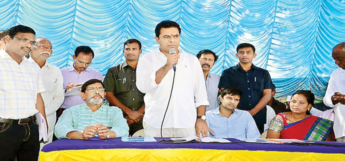 Special officer will be appointed for Sircilla Municipality: KTR