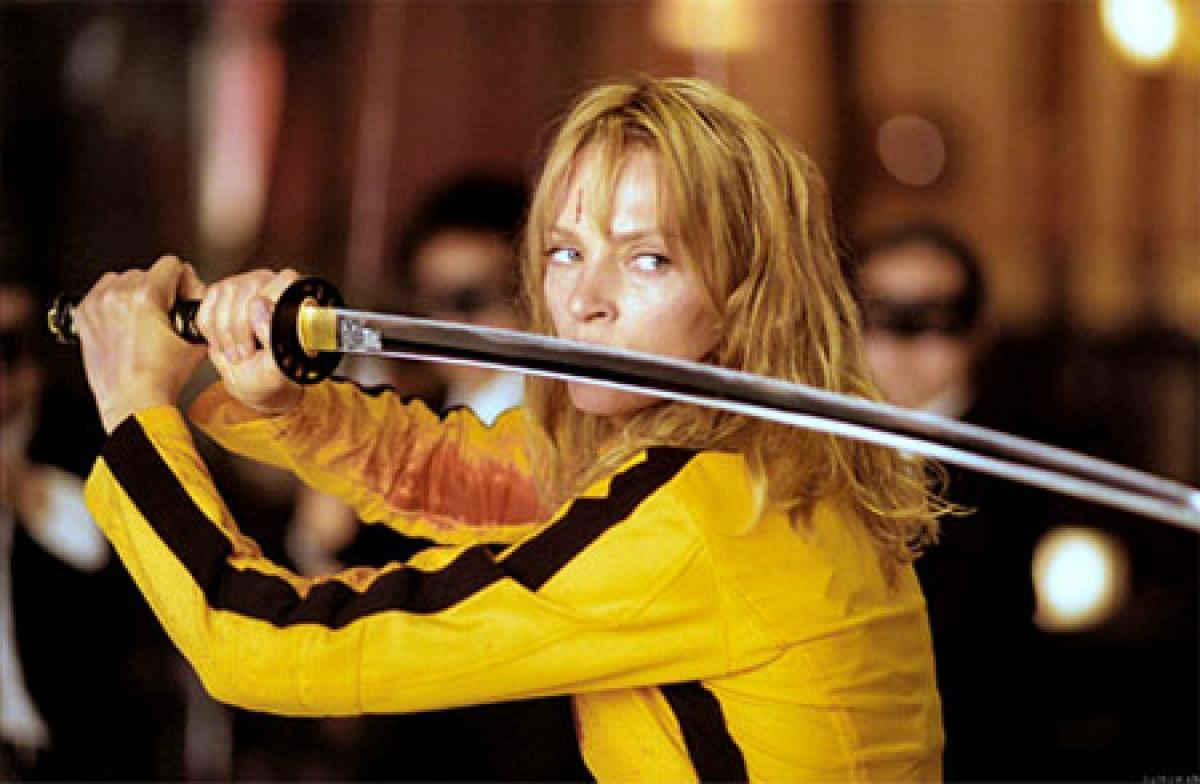 Quentin Tarantino, Uma Thurman discussing Kill Bill 3