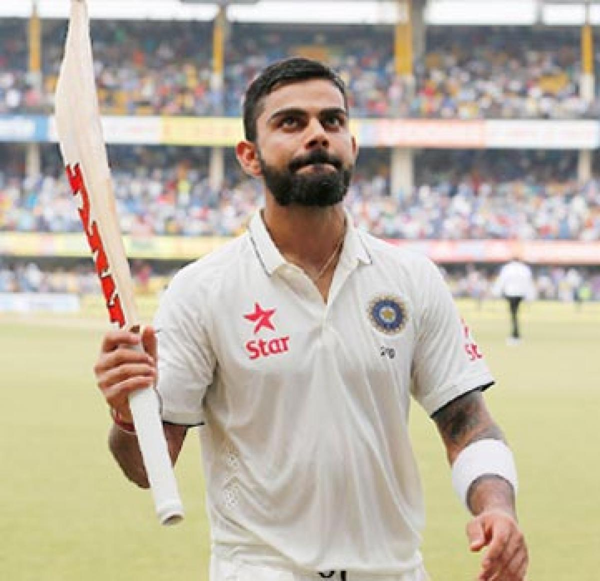 Record-makers Kohli,Rahane hold sway