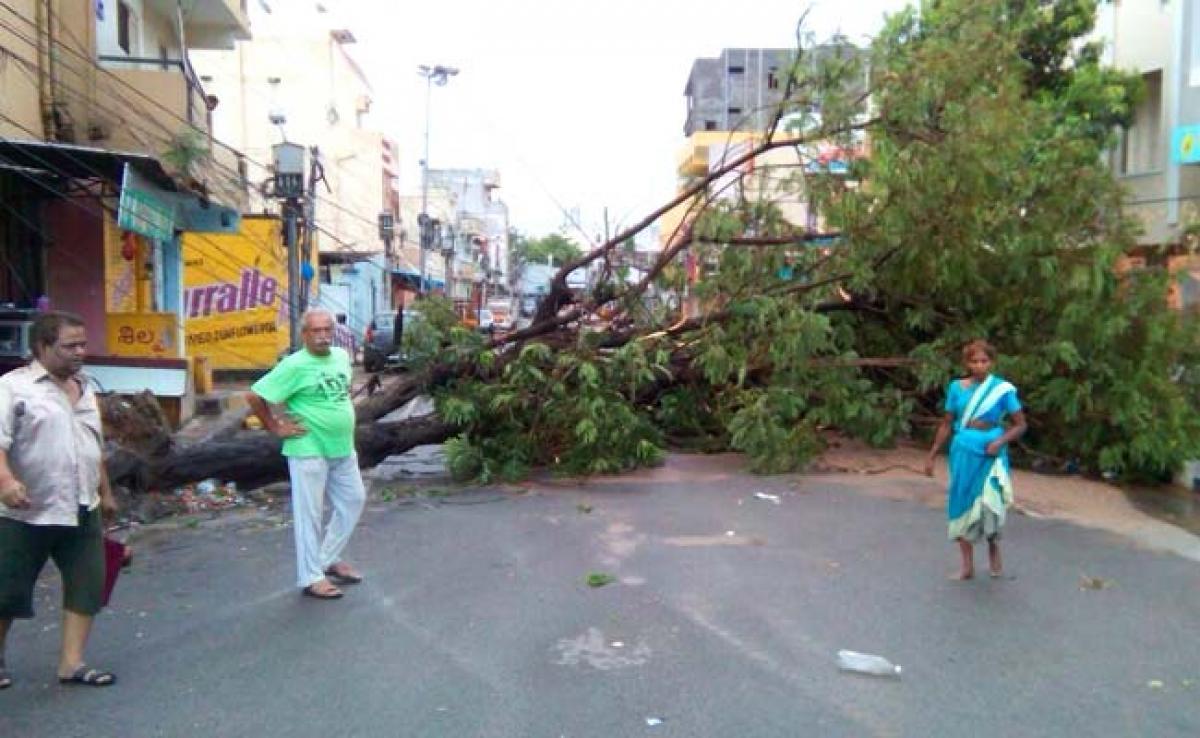 Three killed as thunderstorm wrecks havoc in Hyderabad
