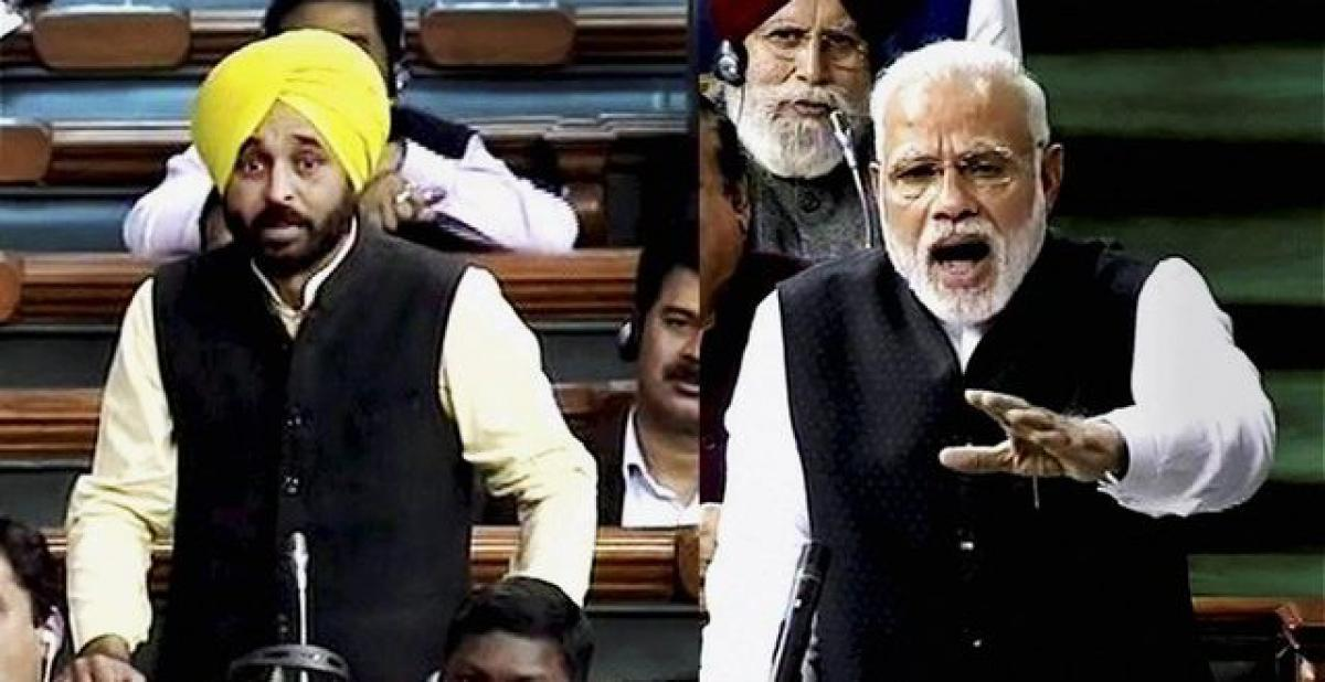 Modi taunts Bhagwant Mann over 'drink'; AAP leader says 'result of frustration'