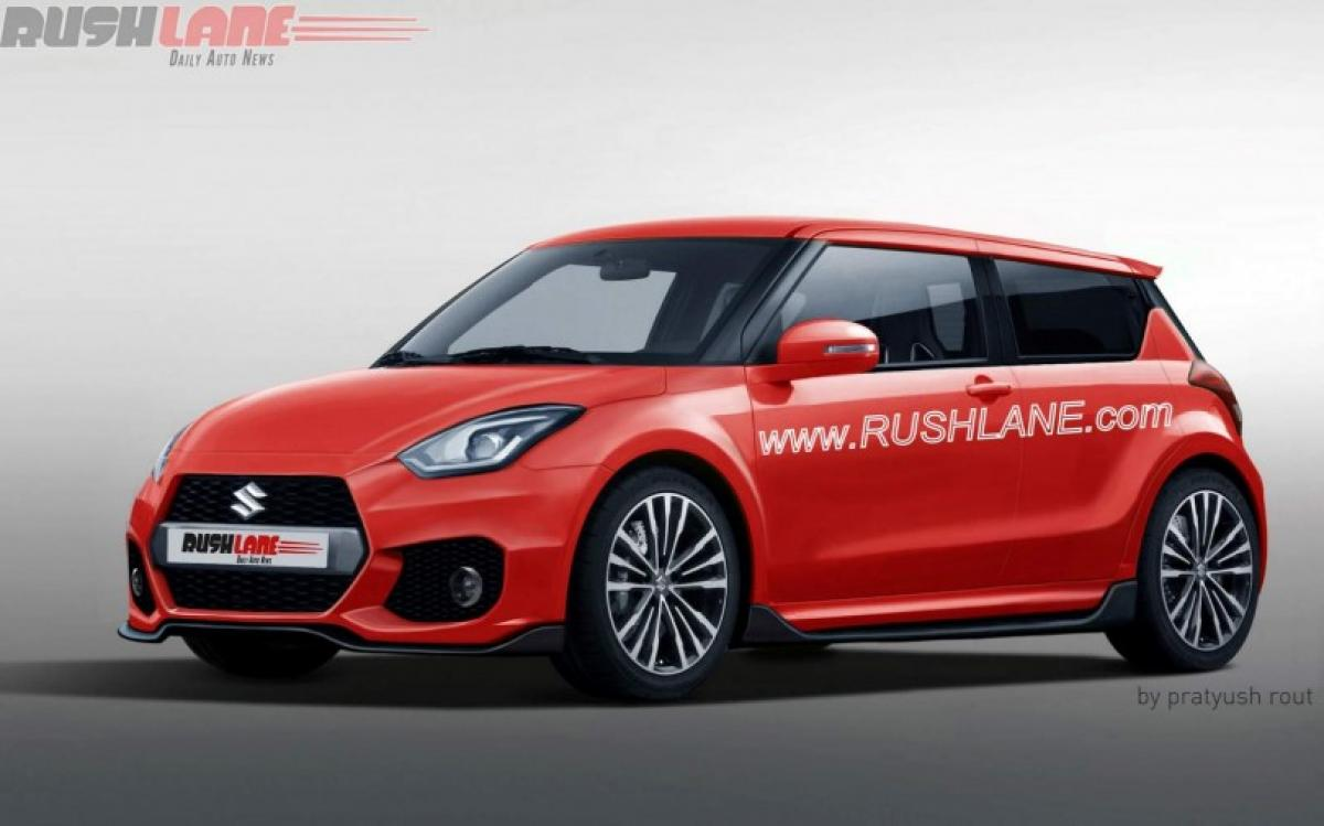 2017 Maruti Suzuki Swift rendering in five colour options