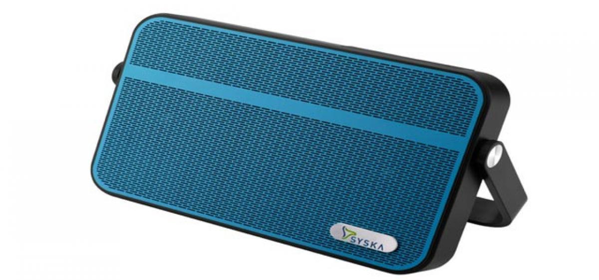 Splash resistant speakers from Syska