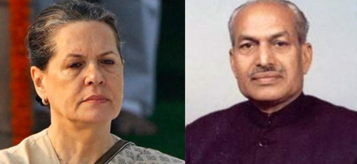 Sonia Gandhi condoles Gen. Krishna Raos death