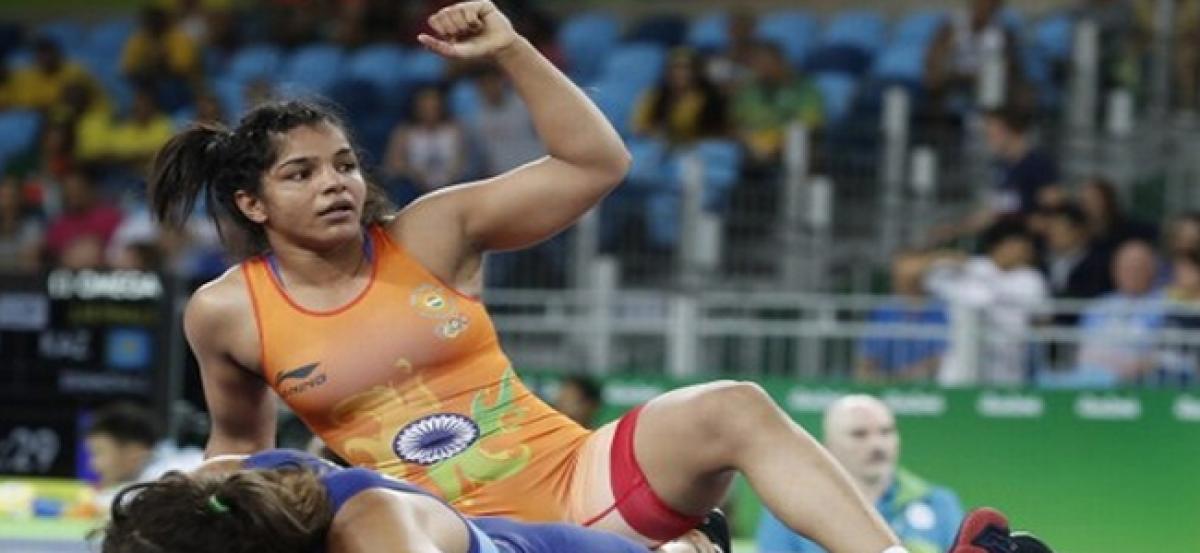 Wrestler Sakshi advances in womens 58kg freestyle at Rio.