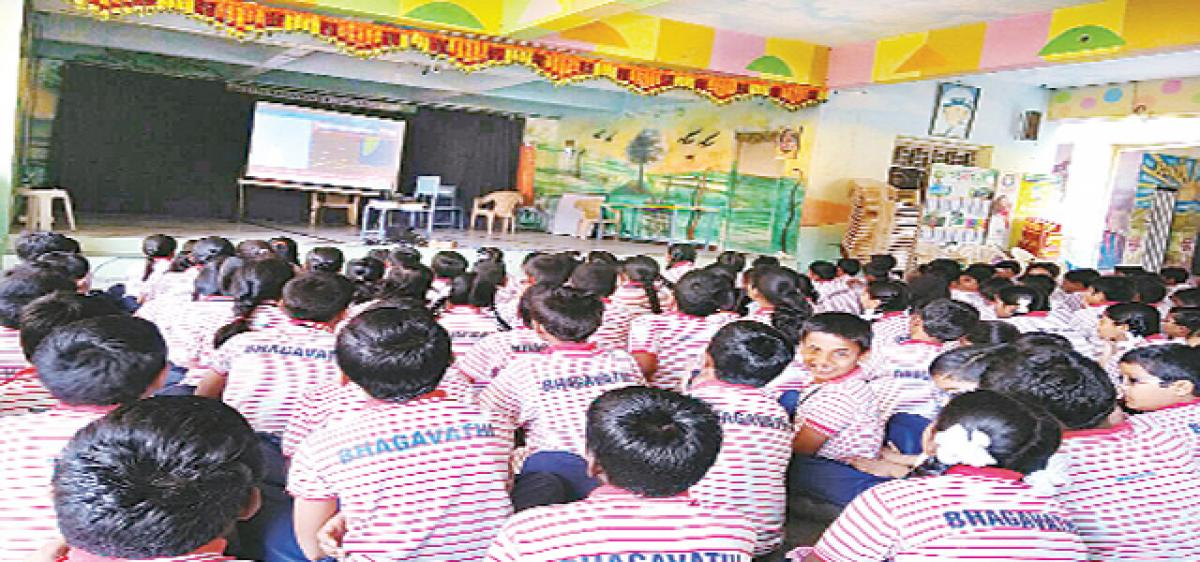 Bhagwathi students hail ISRO