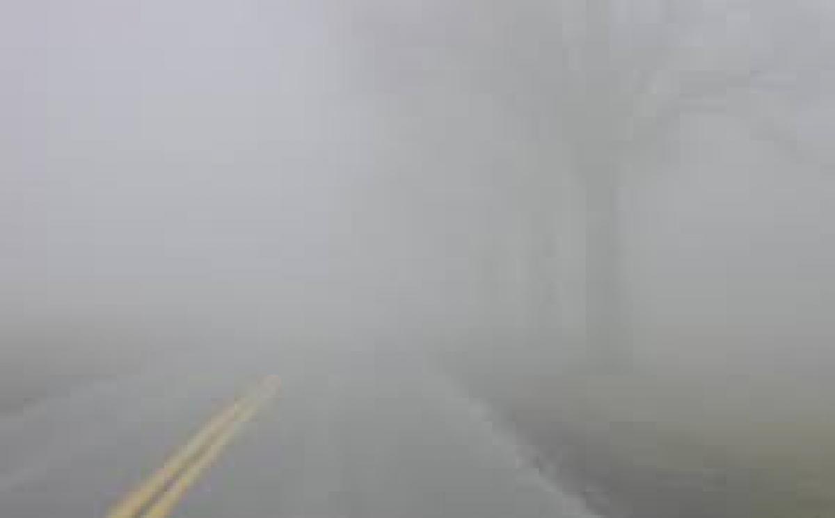 Heavy fog in Delhi on Thursday morning