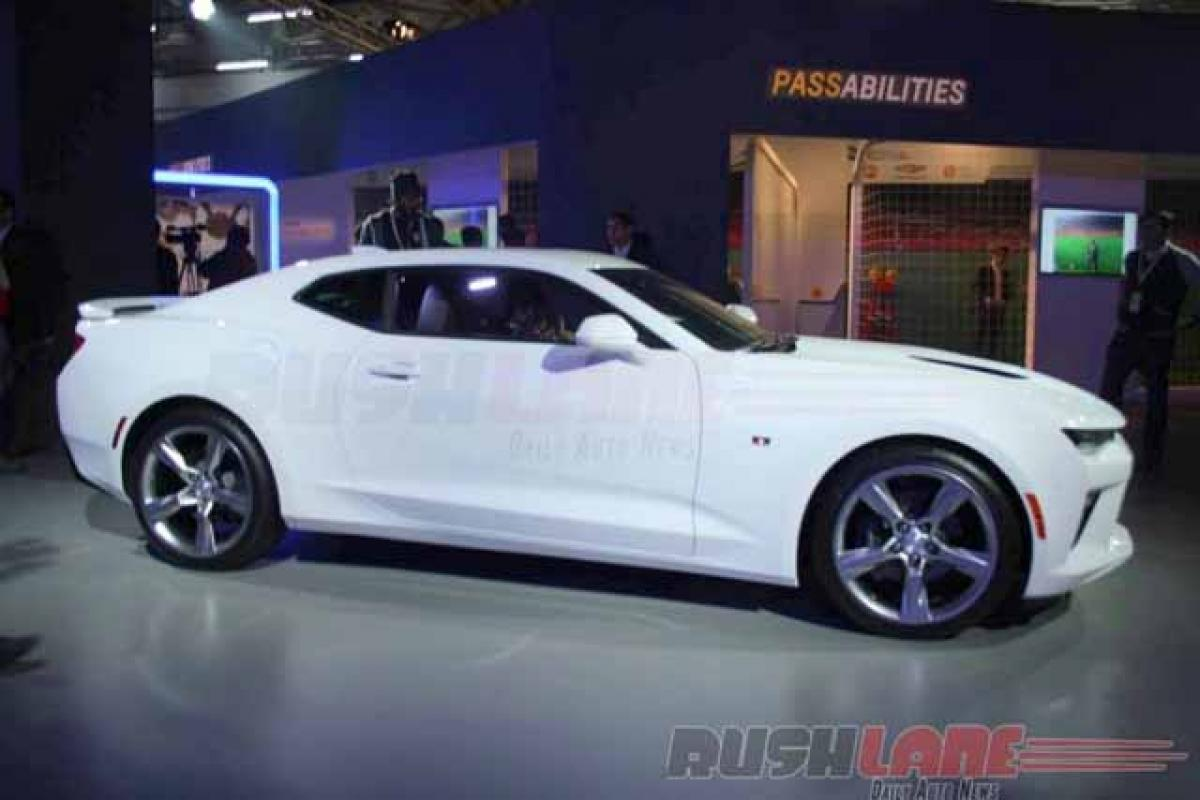 Check out: Chevrolet Camaro features at Auto Expo 2016