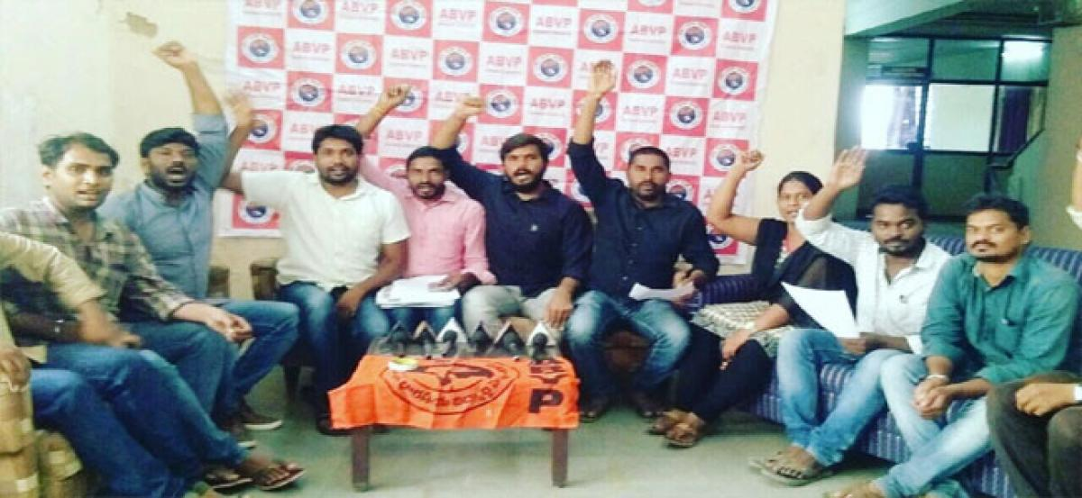 ABVP calls for bandh of jr colleges tomorrow