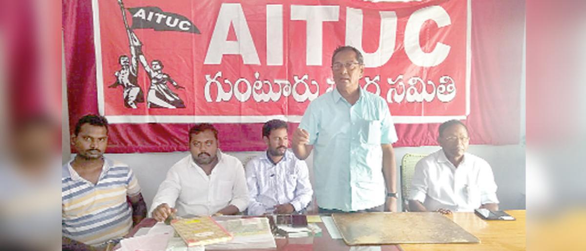 Make Chalo Vijayawada on Oct 26 a success: AITUC