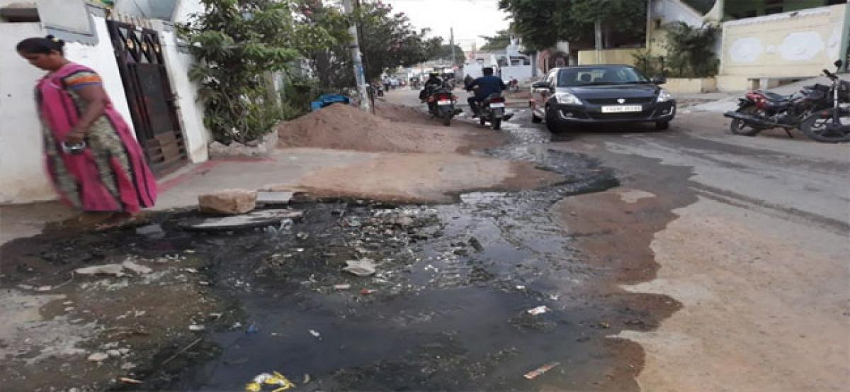 Plea to solve overflowing drains woes