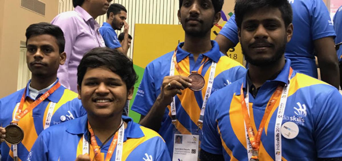 AP boy bags gold medal in skill development