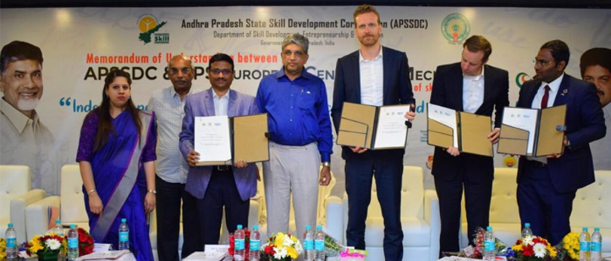 APSSDC inks MoU with German firm to train students