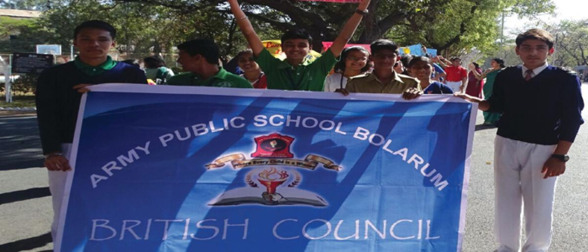Army Public School Bolarum receives British Council Award