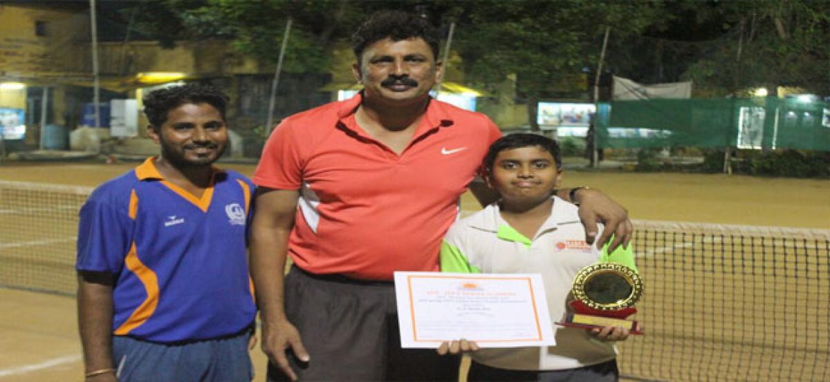 6th class boy stands runner-up in AITA tournament