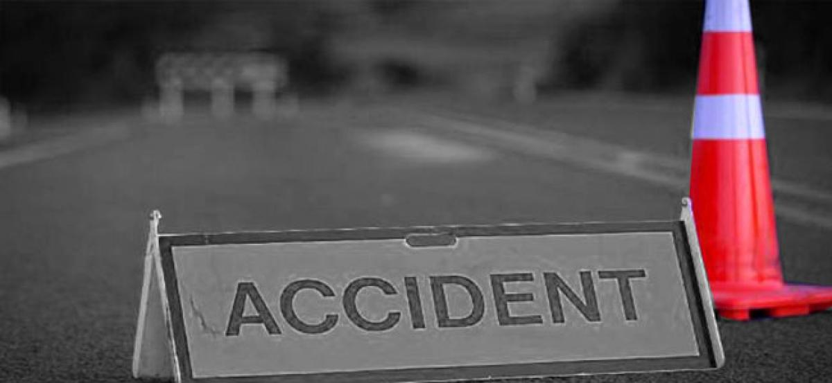 Road accident on National Highway