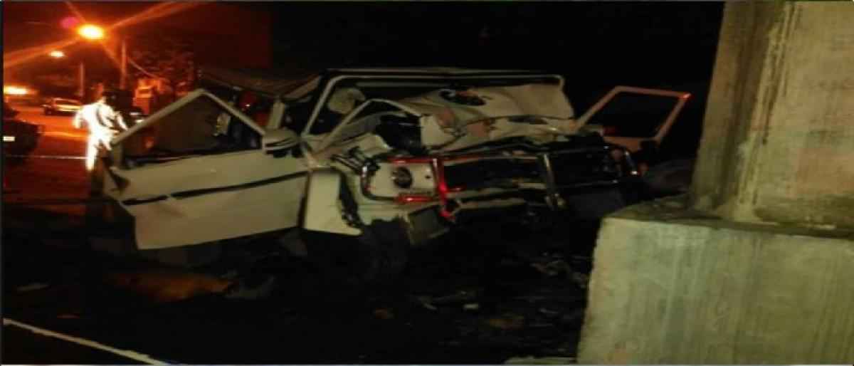 One killed, three injured in road accident; alcohol bottles found in vehicle