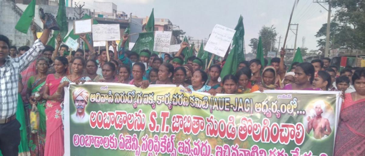Adivasi agitation spreads to Bhadradri
