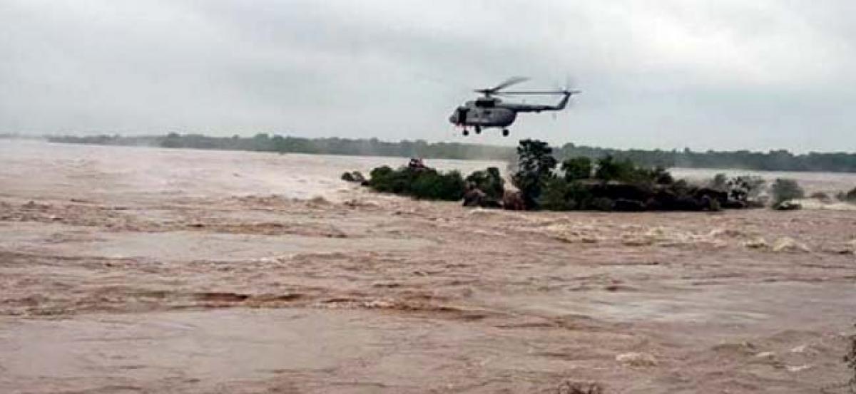 16 dead in heavy rains, floods in Uttar Pradesh, Air Force on rescue efforts