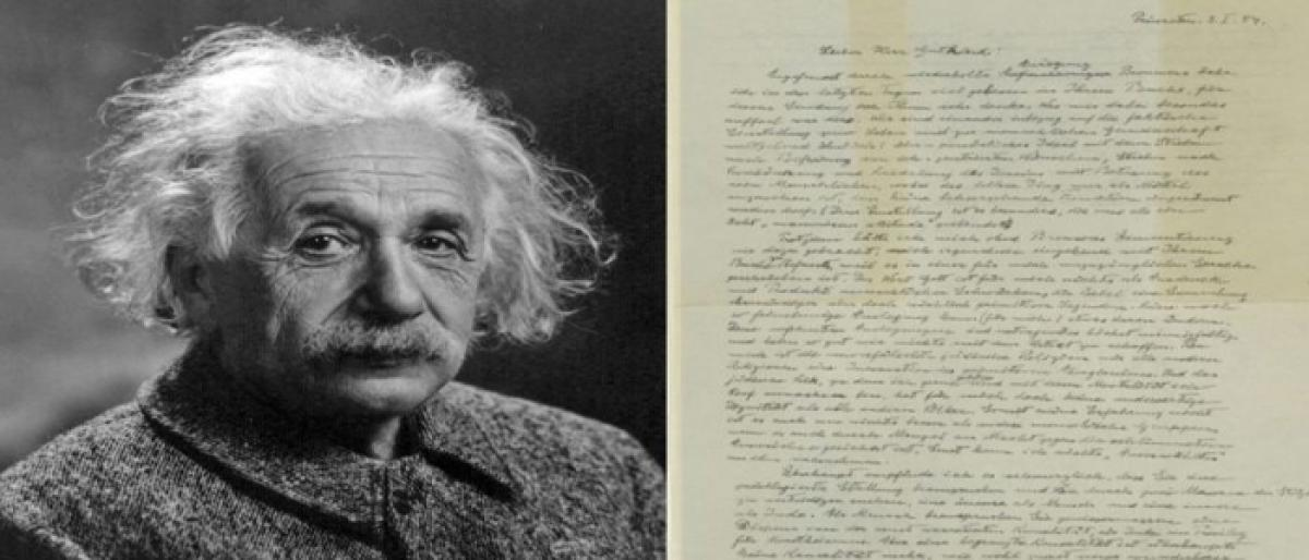 Einstein's letter warned of German anti-Semitism
