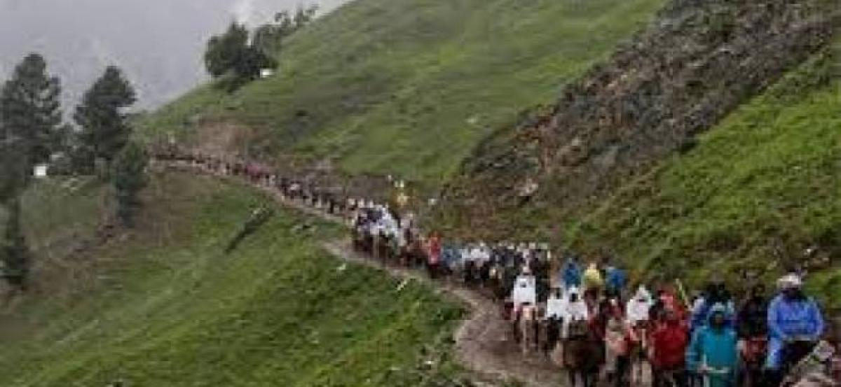 Rain suspends Amarnath yatra from Baltal route