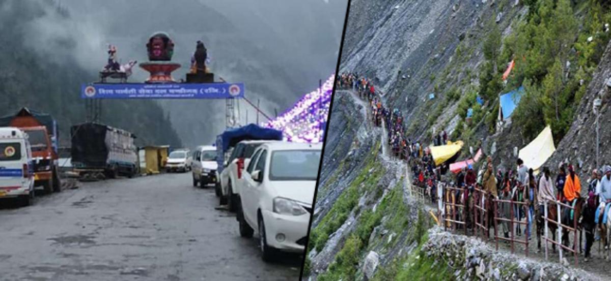 Over 2,000 Amarnath pilgrims left stranded after landslides disrupt traffic on Jammu-Srinagar highway