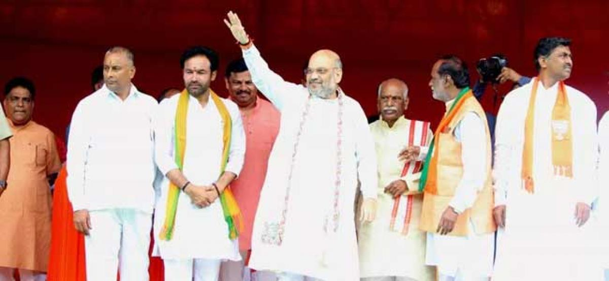 Amit Shah lambasts KCR, says BJP is against family rule
