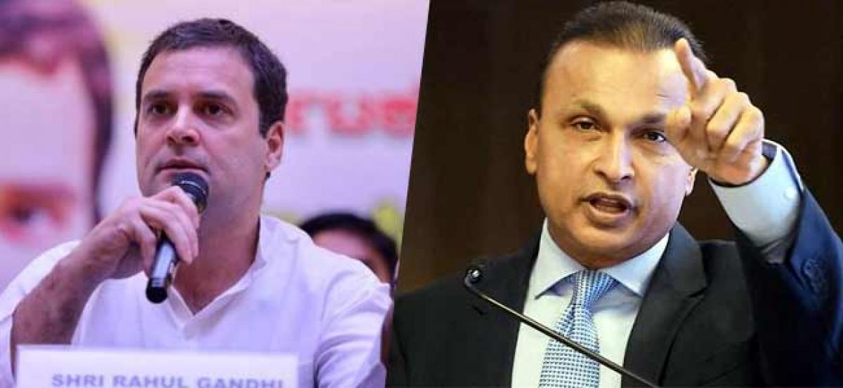 Rahul Gandhi targets Anil Ambani
